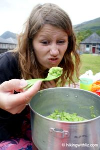 Gross Hiking Food, problem West Highland Way