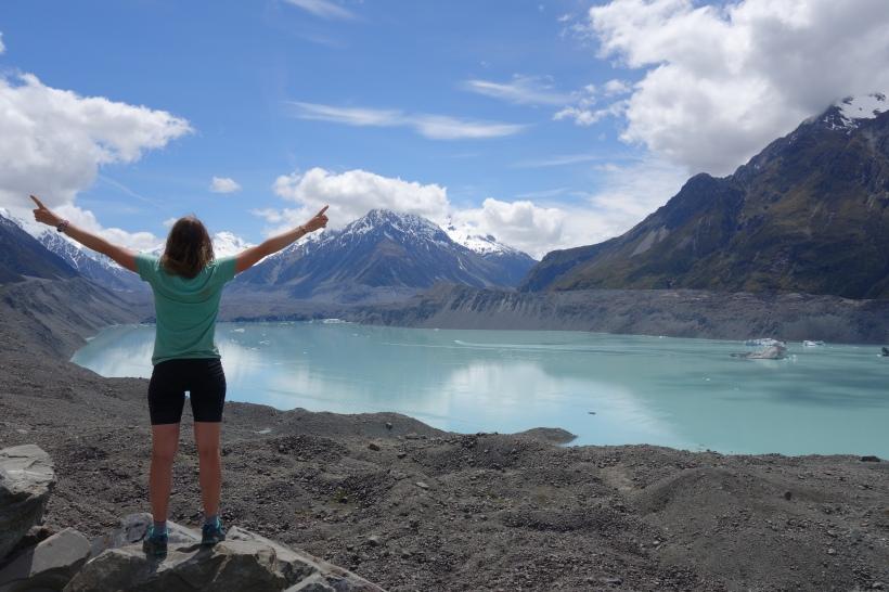 Hiking New Zeealand, Blue Lakes Tasman Valley, Mount Cook National Park