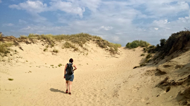 Hollands Coast Path - sand dunes Katwijk